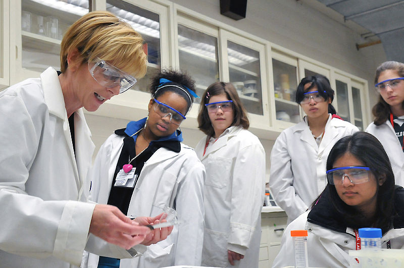 Women at the Argonne National Laboratory in Illinois collaborate to create energy innovations