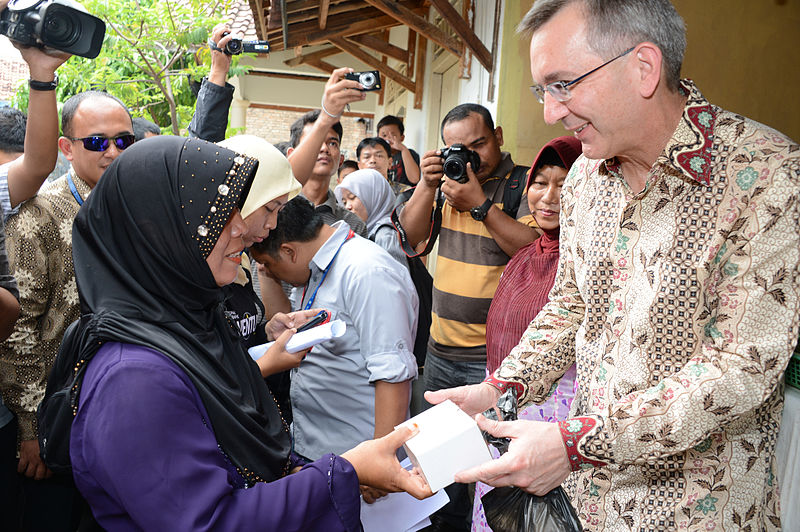 USAID has worked to increase micro credit accessibility. For example, this project in Indonesia provided loans to rural women. https://commons.wikimedia.org/wiki/File:USAID_Micro_Credit_Project.jpg